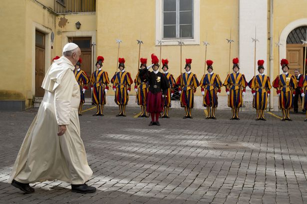 Swiss Guard w Pope Francis